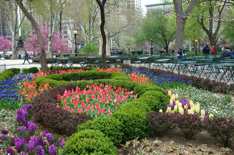 Madison Square Park in Springtime royalty free stock image