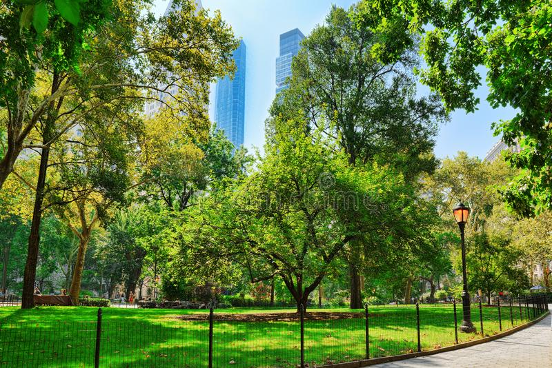 Madison Square Park on 5th Avenue. Urban views of New York. USA stock images