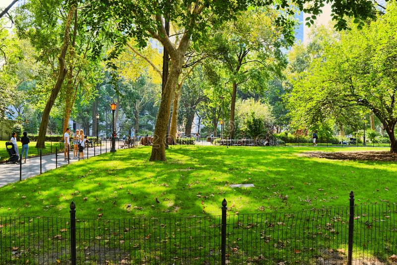 Madison Square Park on 5th Avenue. Urban views of New York. USA. New York, USA- September 05, 2017 : Madison Square Park on 5th Avenue. Urban views of New York royalty free stock photography