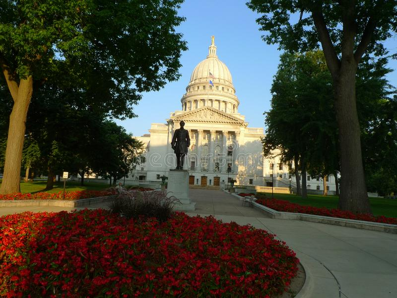 Madison, Wi de Capitoolbouw royalty-vrije stock foto's