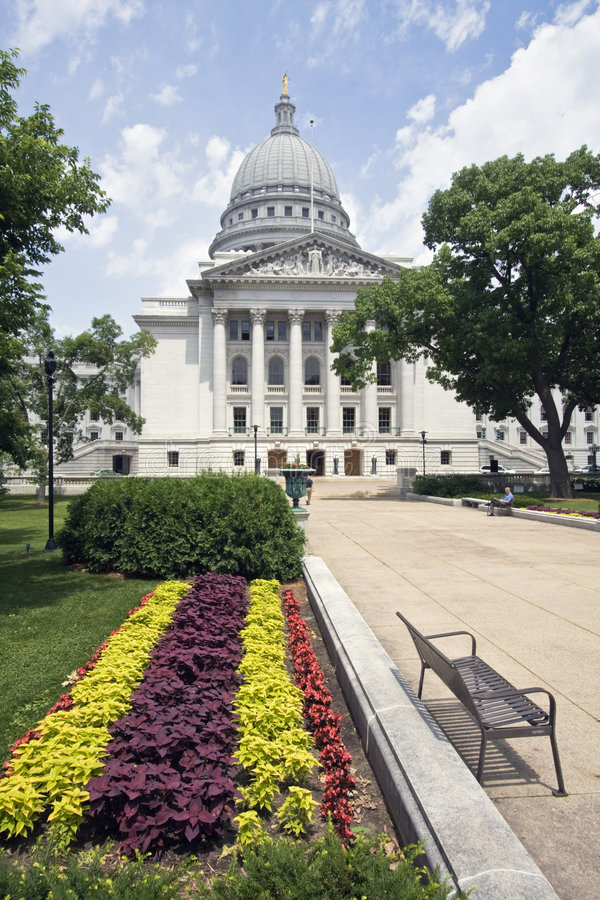Madison, Wisconsin - Capitólio do estado foto de stock