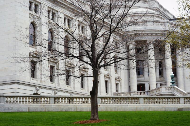 Madison Wisconsin Kapitoliumbyggnad arkivfoton