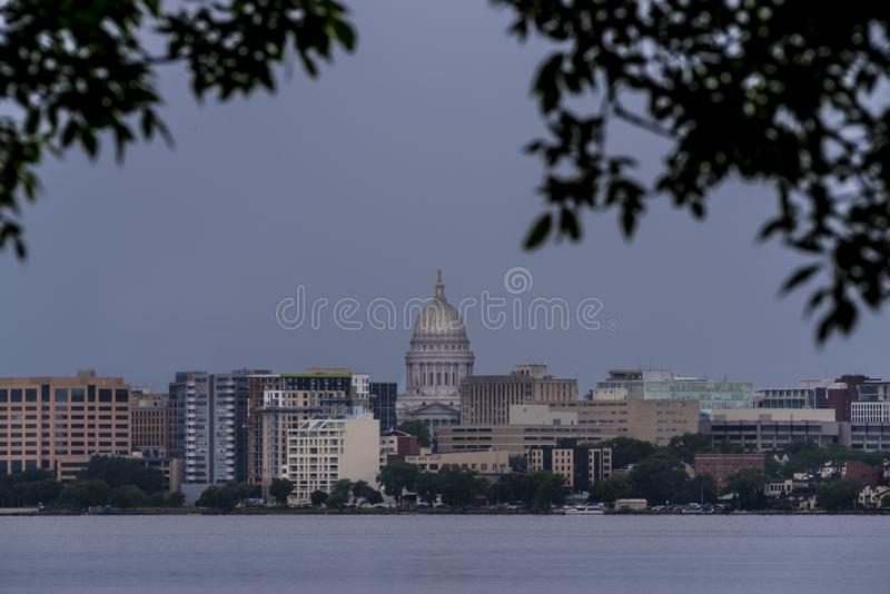 Madison Wisconsin Skyline image libre de droits
