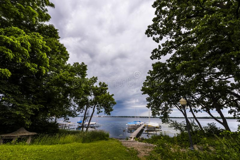 Madison Wisconsin Skyline images stock