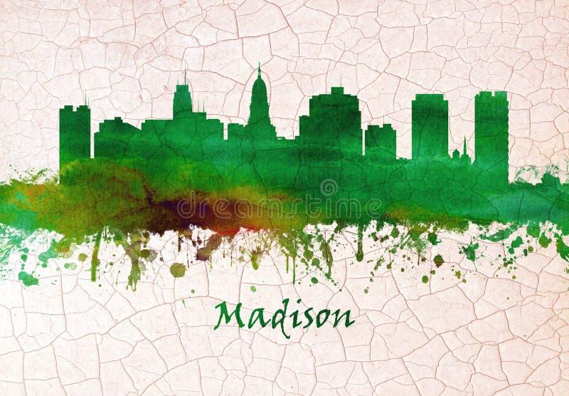 Madison Wisconsin Skyline libre illustration