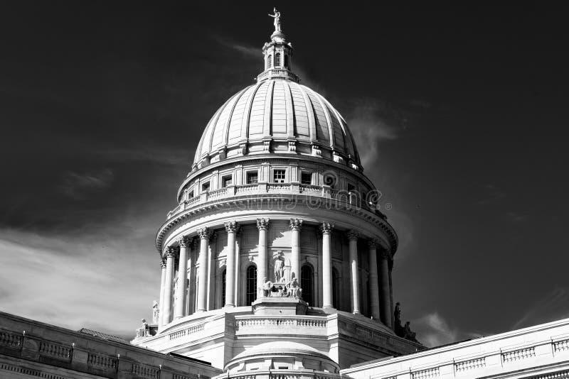 Madison Wisconsin stanu Capitol budynek obraz royalty free