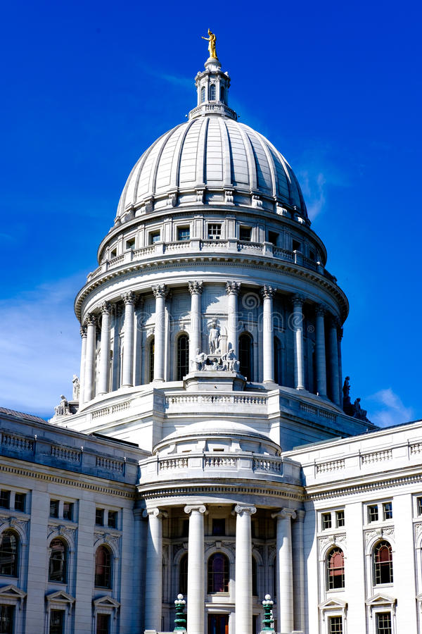 Madison Wisconsin State Capitol Building fotografia stock libera da diritti