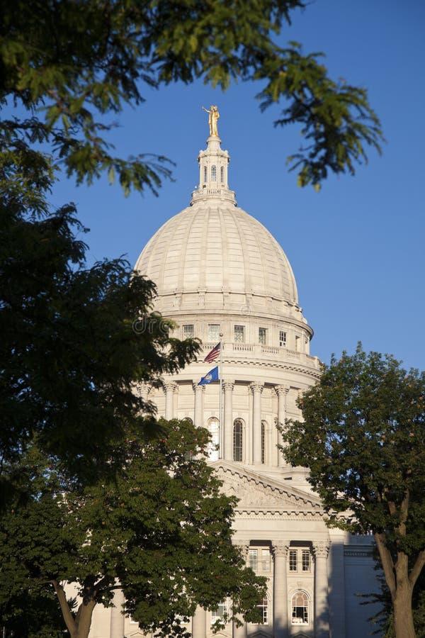 Madison, Wisconsin - Zustand-Kapitol-Gebäude stockbild