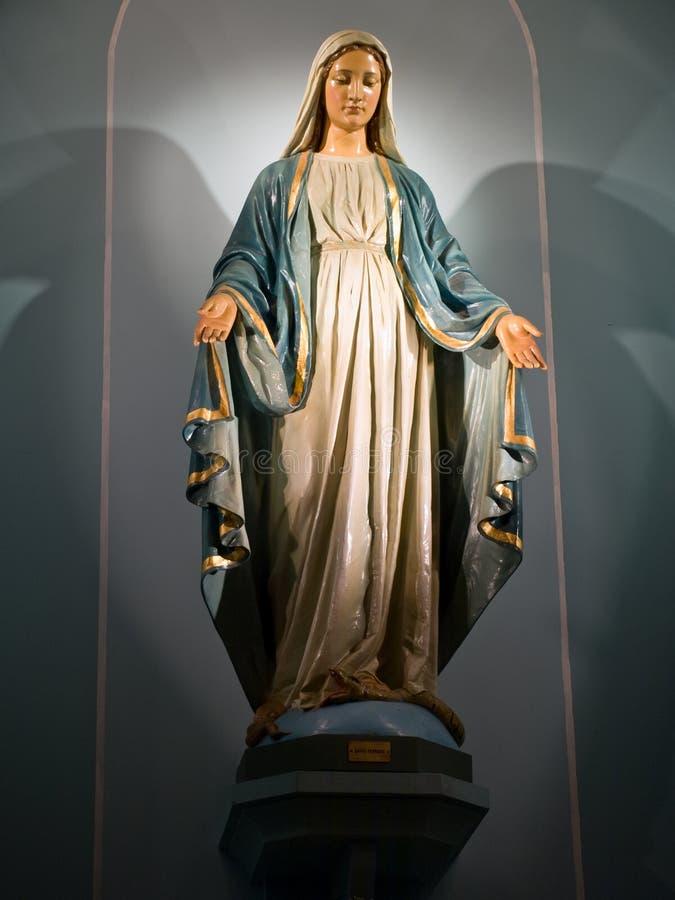 madonna雕象 库存图片