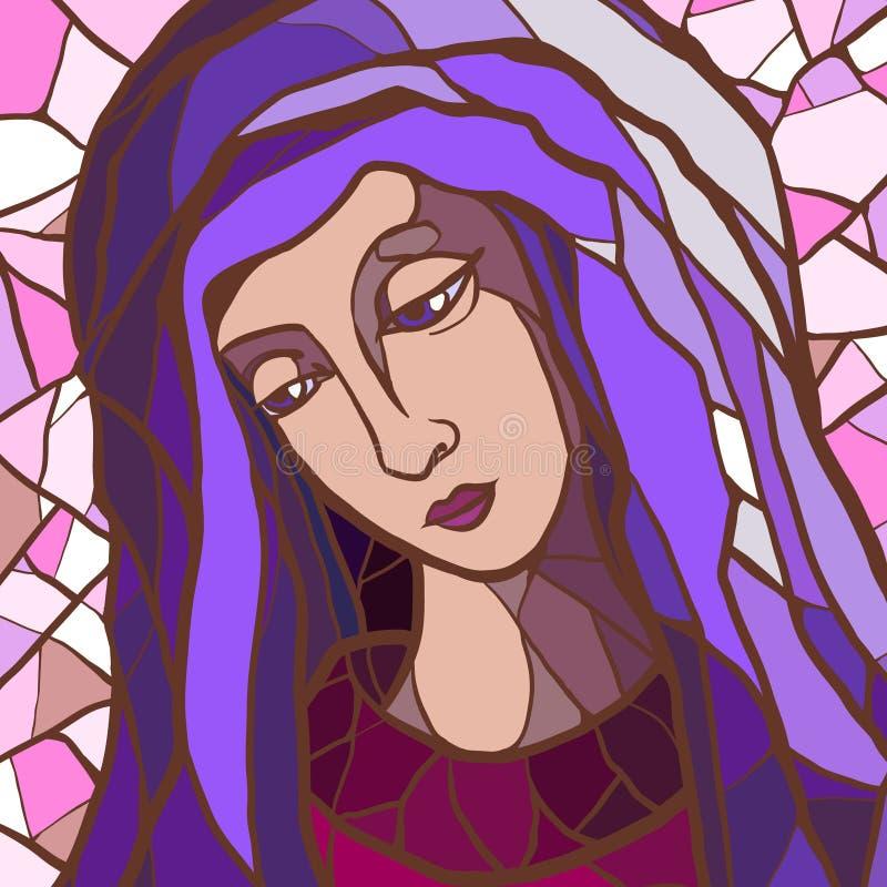 Madonna ilustração royalty free