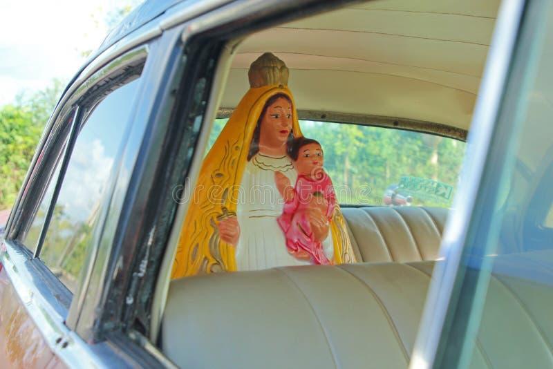 Madonna, backseat driver stock photography