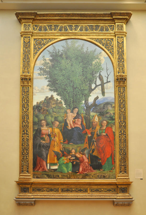 Madonna and Child with Saints, by Libri
