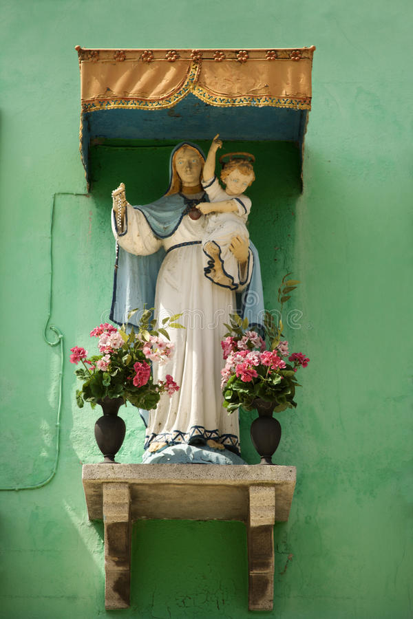 Download Madonna and Child Shrine stock image. Image of christianity - 12978279