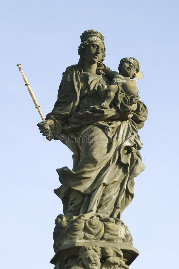 Madonna and Christ Child royalty free stock photo