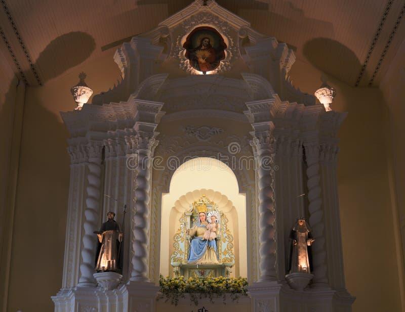 Madonna dans l'église de la rue Dominic. Macao. image libre de droits
