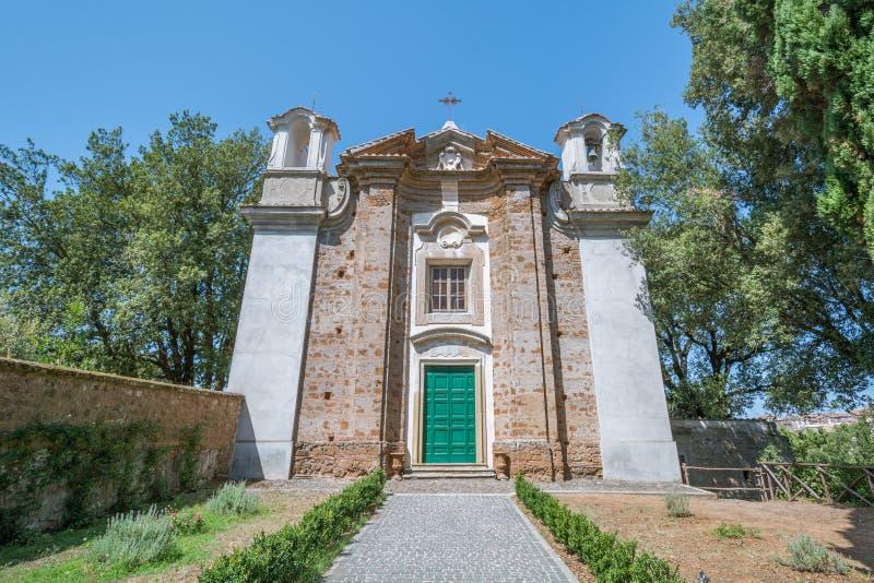Madonna del Monte Church, Sutri, Viterbo landskap, Lazio Italien royaltyfria foton
