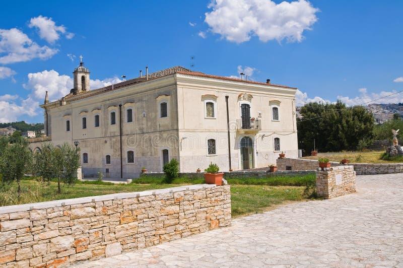 Madonna del Sabato Sanctuary. Minervino Murge. Puglia. Italy. Perspective of the Madonna del Sabato Sanctuary. Minervino Murge. Puglia. Italy royalty free stock images