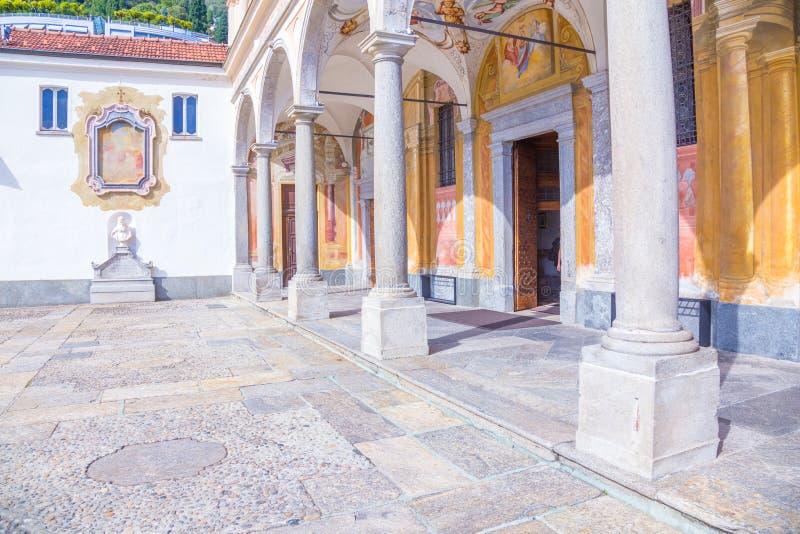 Madonna Del Sasso Church, Locarno, die Schweiz lizenzfreies stockbild
