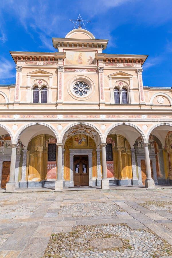 Madonna Del Sasso Church, Locarno, die Schweiz stockbild