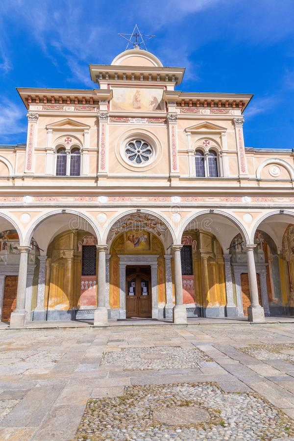 Madonna del Sasso Igreja, Locarno, Suíça imagem de stock