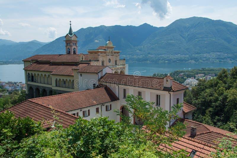 Madonna del Sasso, Locarno royalty free stock photography