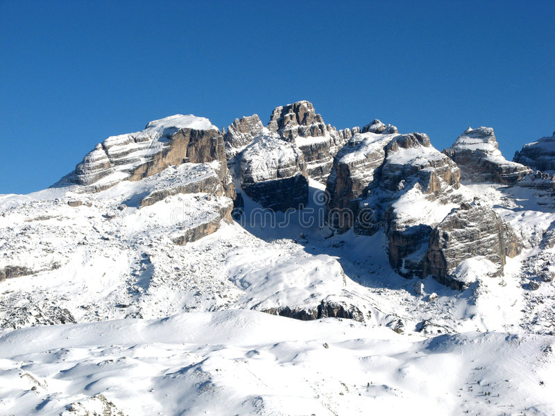 Madonna di campiglio royalty free stock photography