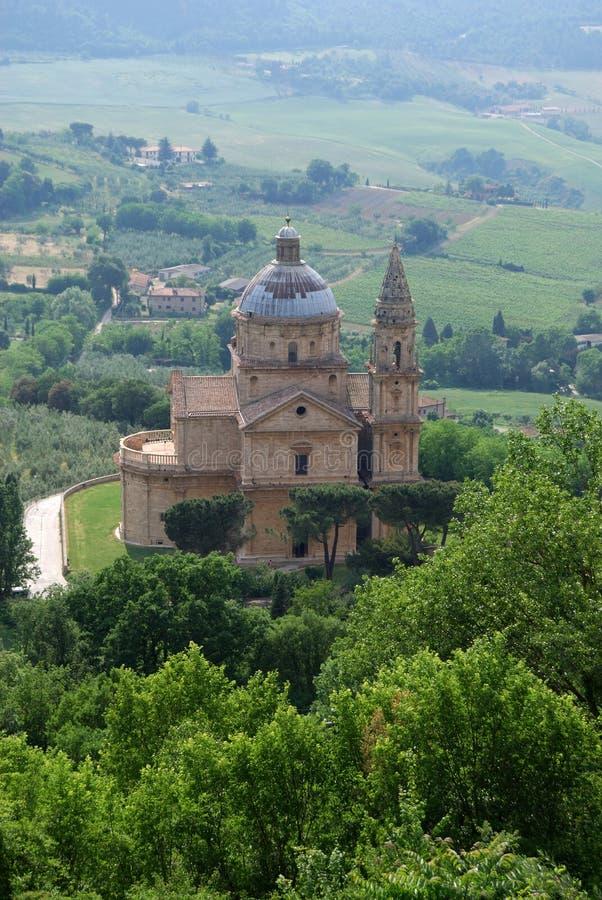 Madonna di San Biagio in Montepulciano. Church Madonna di San Biagio in Montepulciano, Tuscany stock photography