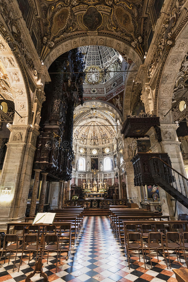 Free Madonna Di Tirano Sondrio, Historic Sanctuary, Interior Stock Photography - 80479272