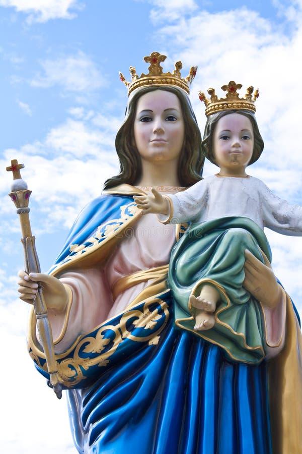 Madonna en het kind van Jesus stock foto