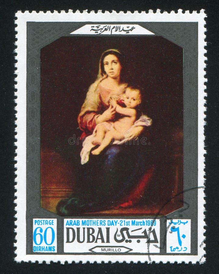 Madonna en Kind door Murillo royalty-vrije stock afbeelding