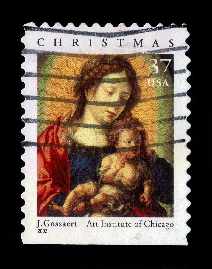 Madonna et enfant par Jan Gossaert photographie stock