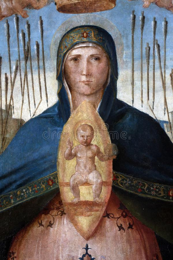 Madonna-Hilfe von Christen lizenzfreies stockfoto