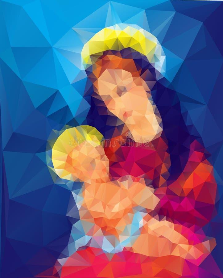 Madonna i dziecko royalty ilustracja