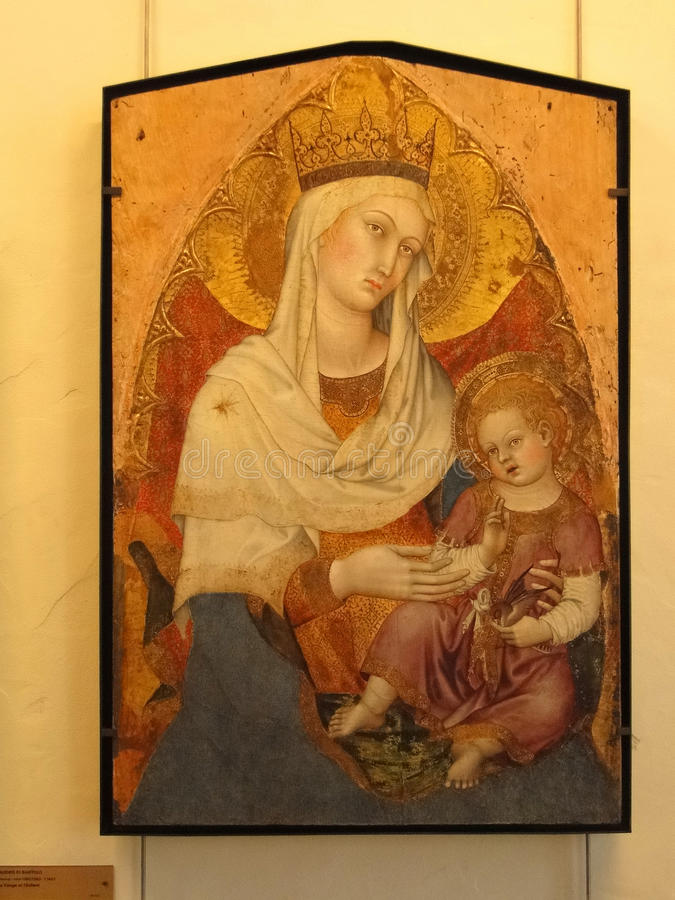 Madonna i dziecko obrazy royalty free