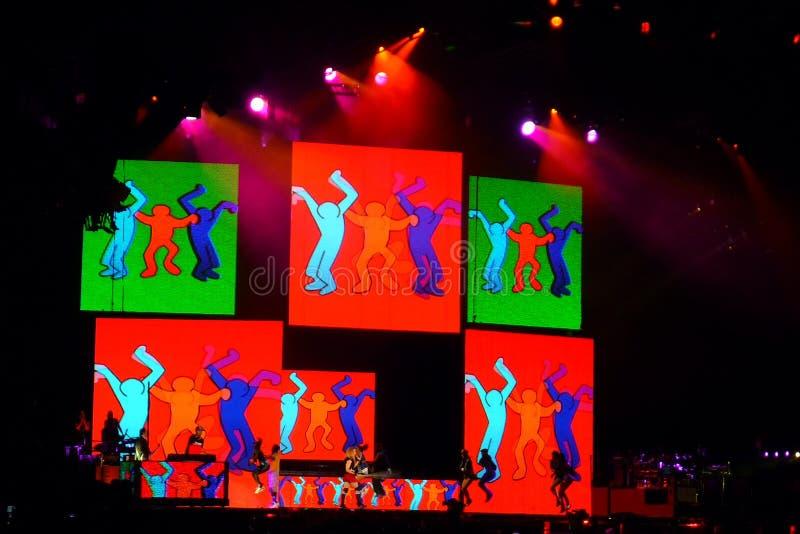 Madonna im Konzert lizenzfreie stockfotografie