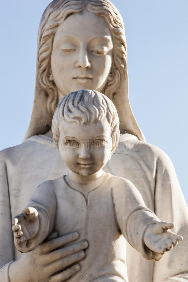 Madonna and Jesus child royalty free stock photos