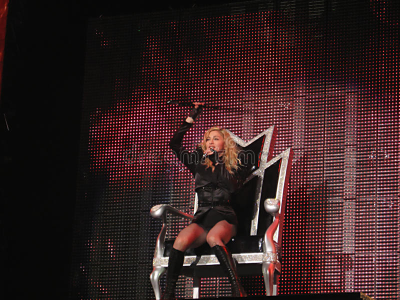 Madonna within the live concert royalty free stock photography