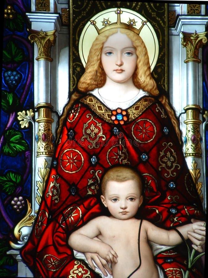 Madonna met kind royalty-vrije stock afbeelding