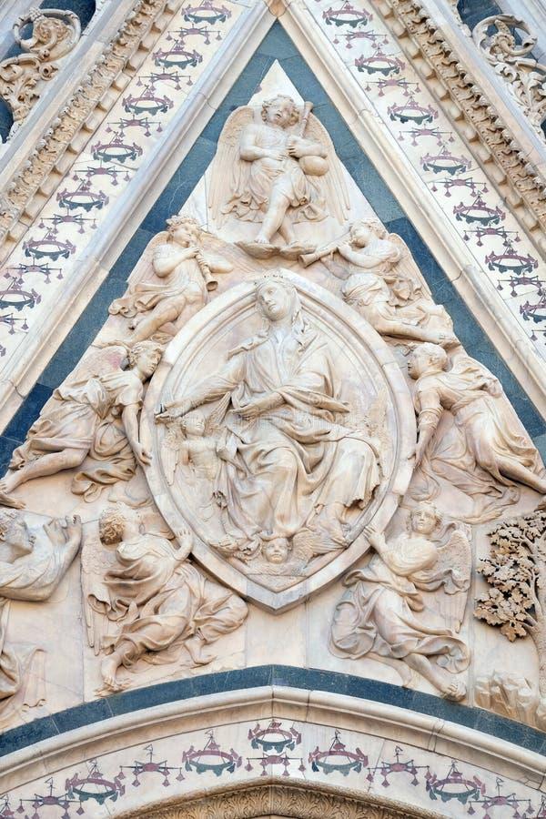 Madonna podpasanie, portal Florencja katedra obraz royalty free