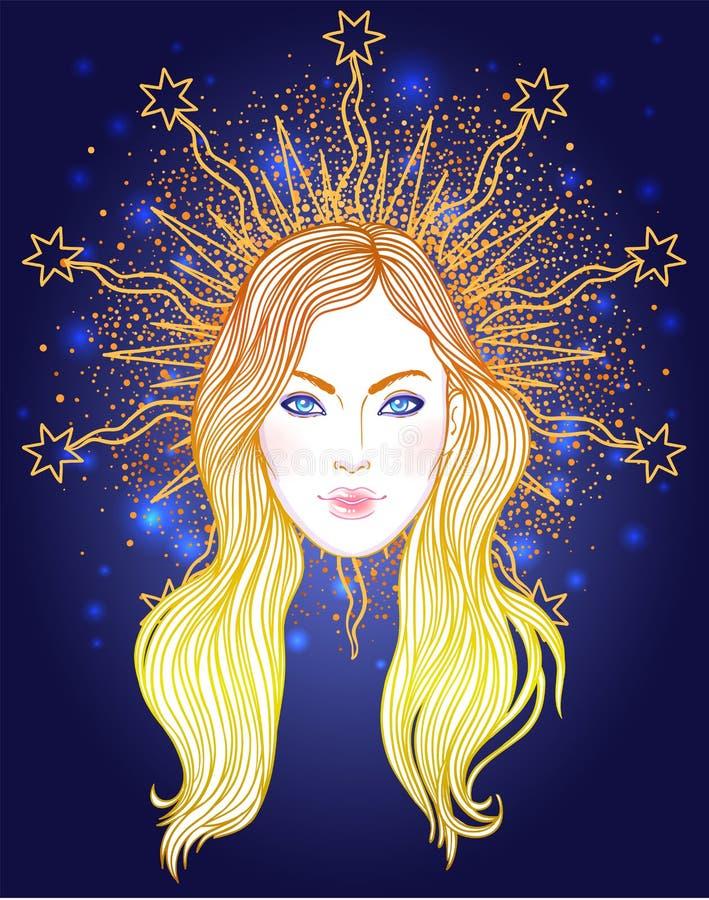 Madonna, signora di dispiacere Devozione al cuore immacolato di Ble royalty illustrazione gratis