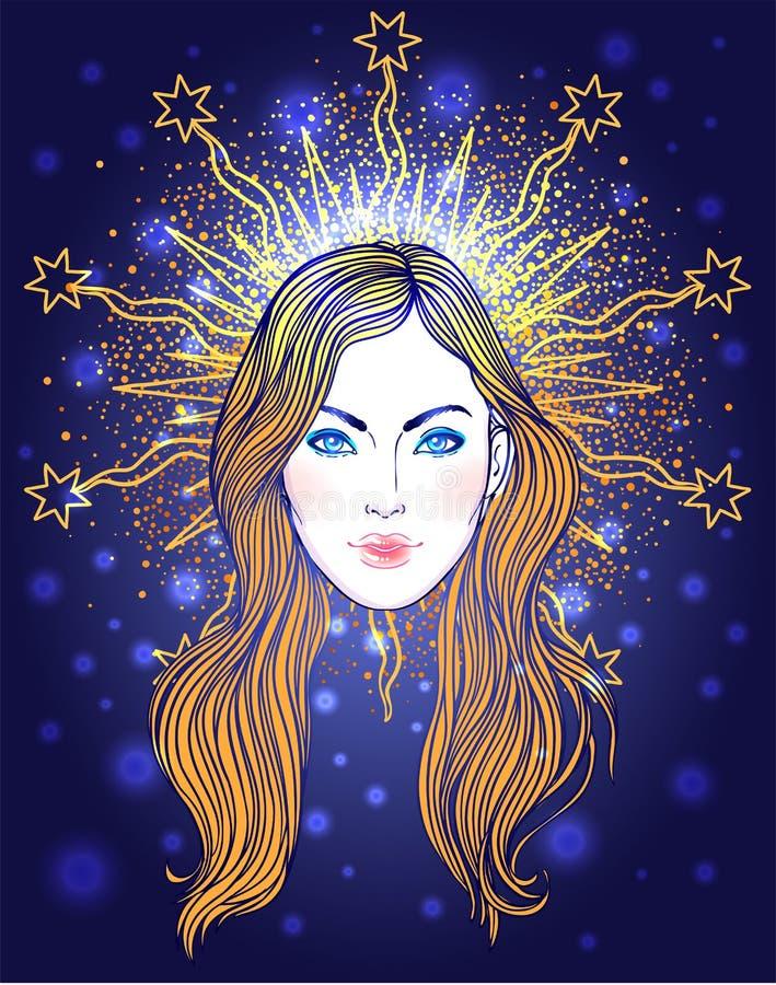Madonna, signora di dispiacere Devozione al cuore immacolato di Ble illustrazione vettoriale