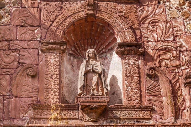 Madonna-Statue San Felipe Neri Church San Miguel de Allende Mexiko stockbilder