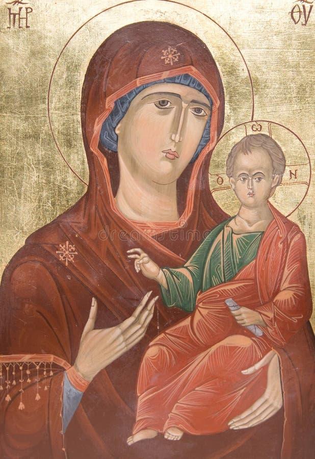 Madonna und der junge Jesus stockfotos