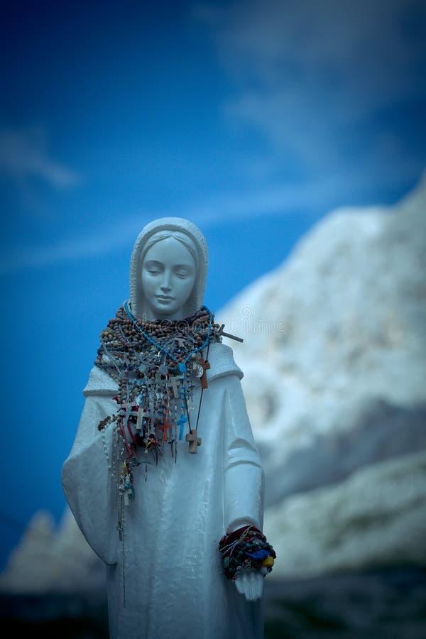 Madonna on Vajolet towers, Dolomites