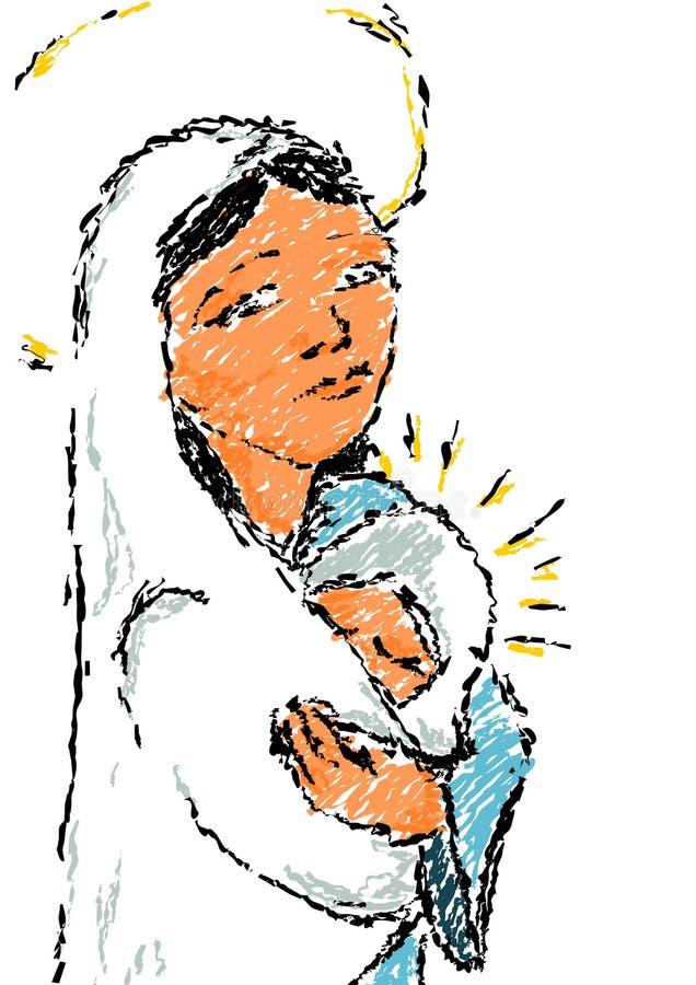 Madonna z dzieckiem. ilustracji