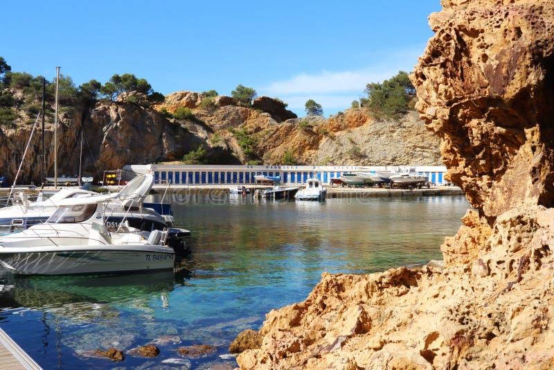 Madrague de Gignac perto de Marselha, França foto de stock