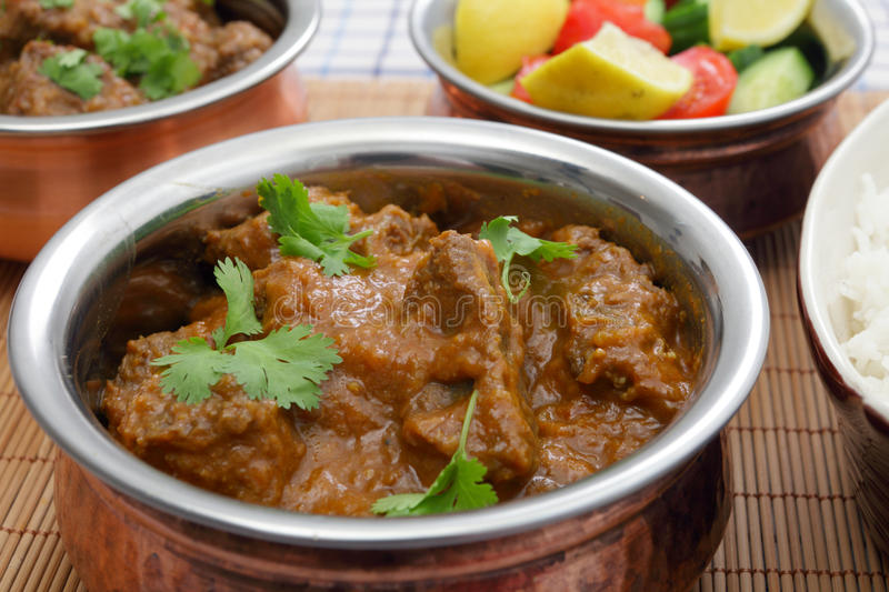 Madras butter beef curry royalty free stock images