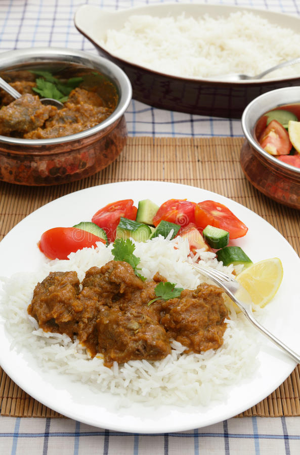 Madras butter beef meal vertical royalty free stock image