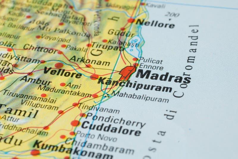 Madras färdplan fotografering för bildbyråer