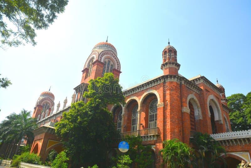 Madras universitet royaltyfri foto
